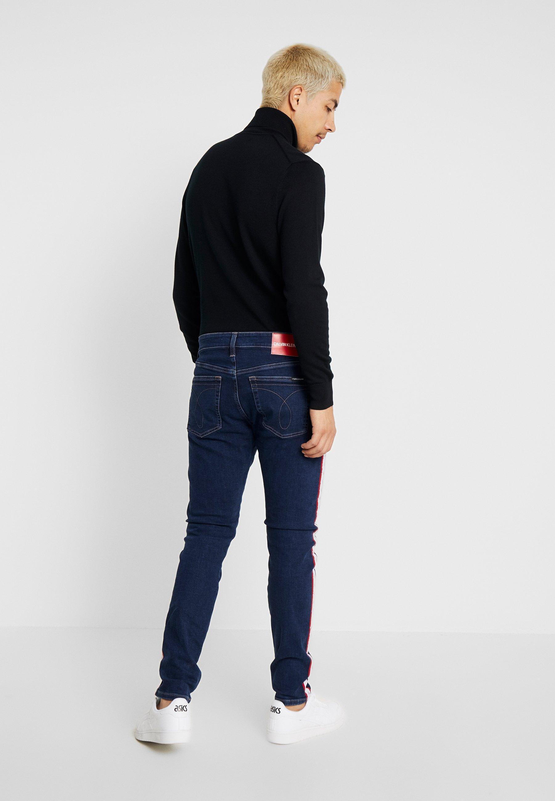 Blue white Klein Slim TaperJean red Jeans Calvin 8PNOkXn0w