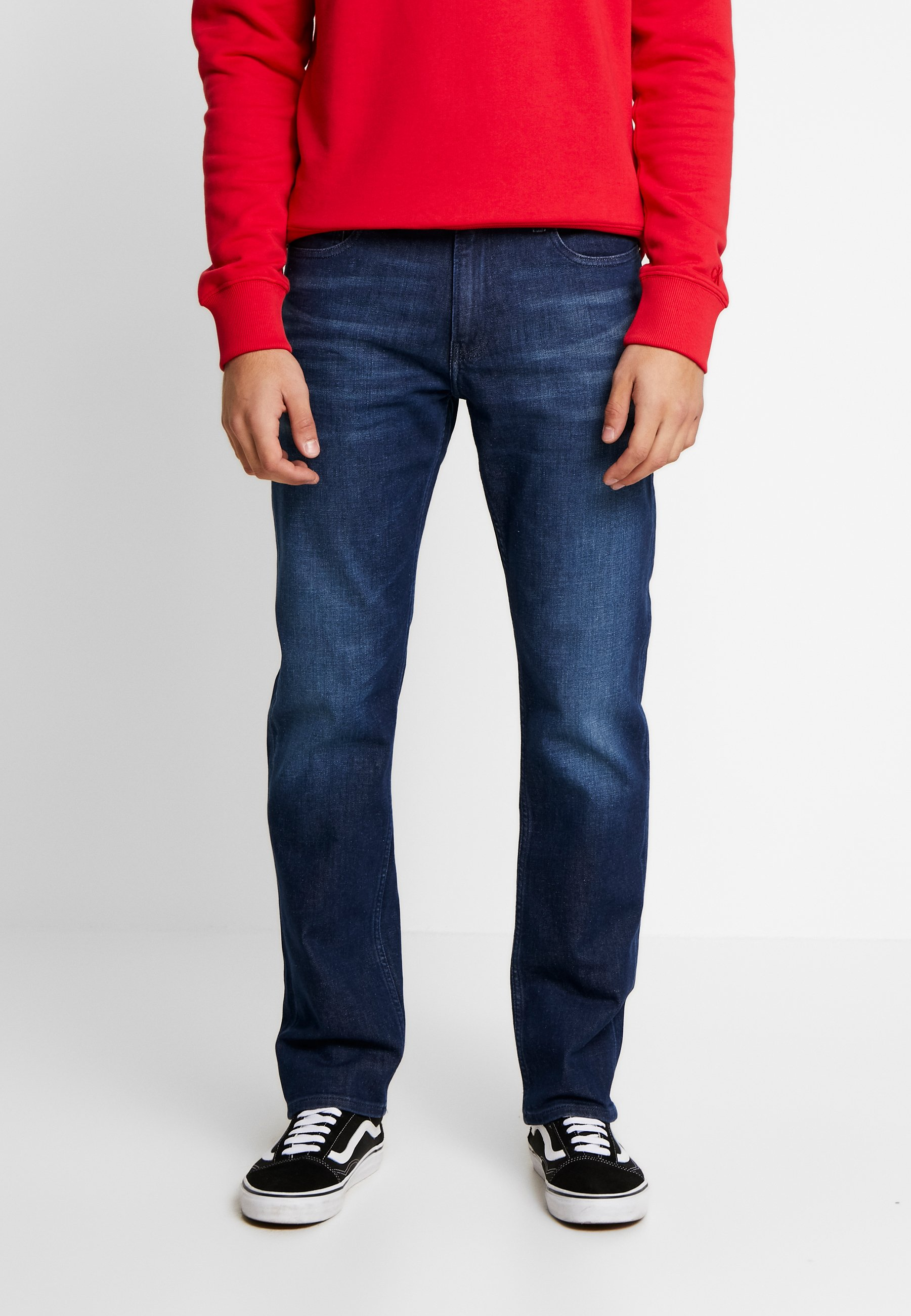 Calvin Klein Jeans STRAIGHT - Jeansy Straight Leg - dark blue