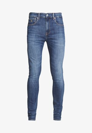 SUPER SKINNY - Jeans Skinny - dark-blue denim