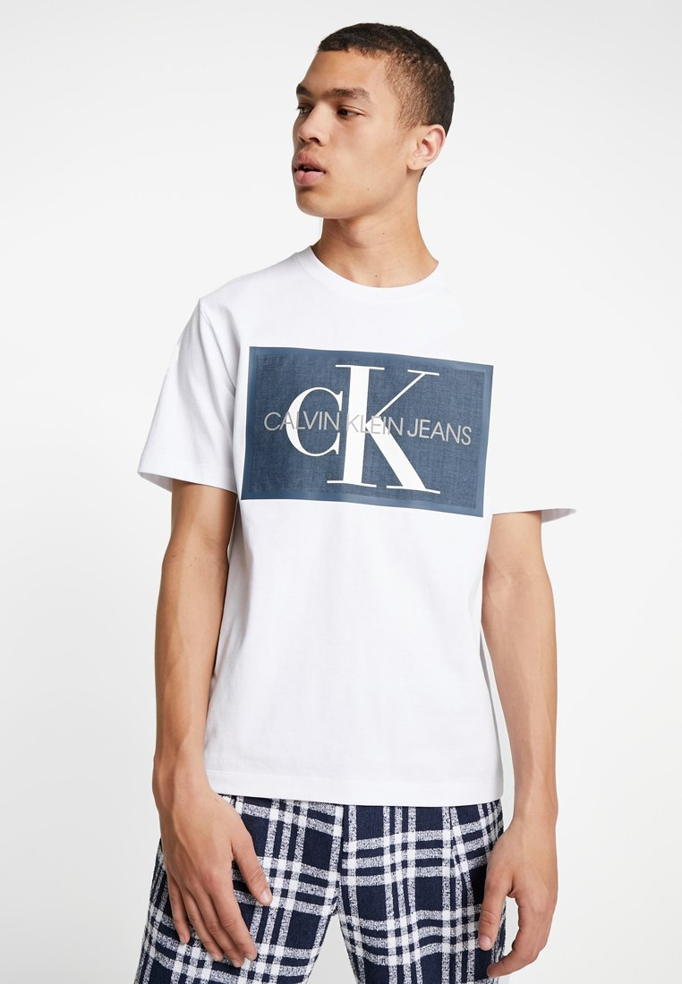Calvin Klein Jeans - MONOGRAM ICON BOX - T-Shirt print - white