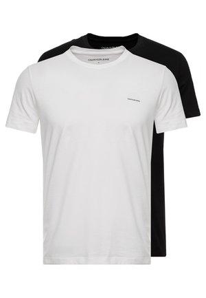 SLIM FIT 2 PACK - Jednoduché triko - bright white/black beauty