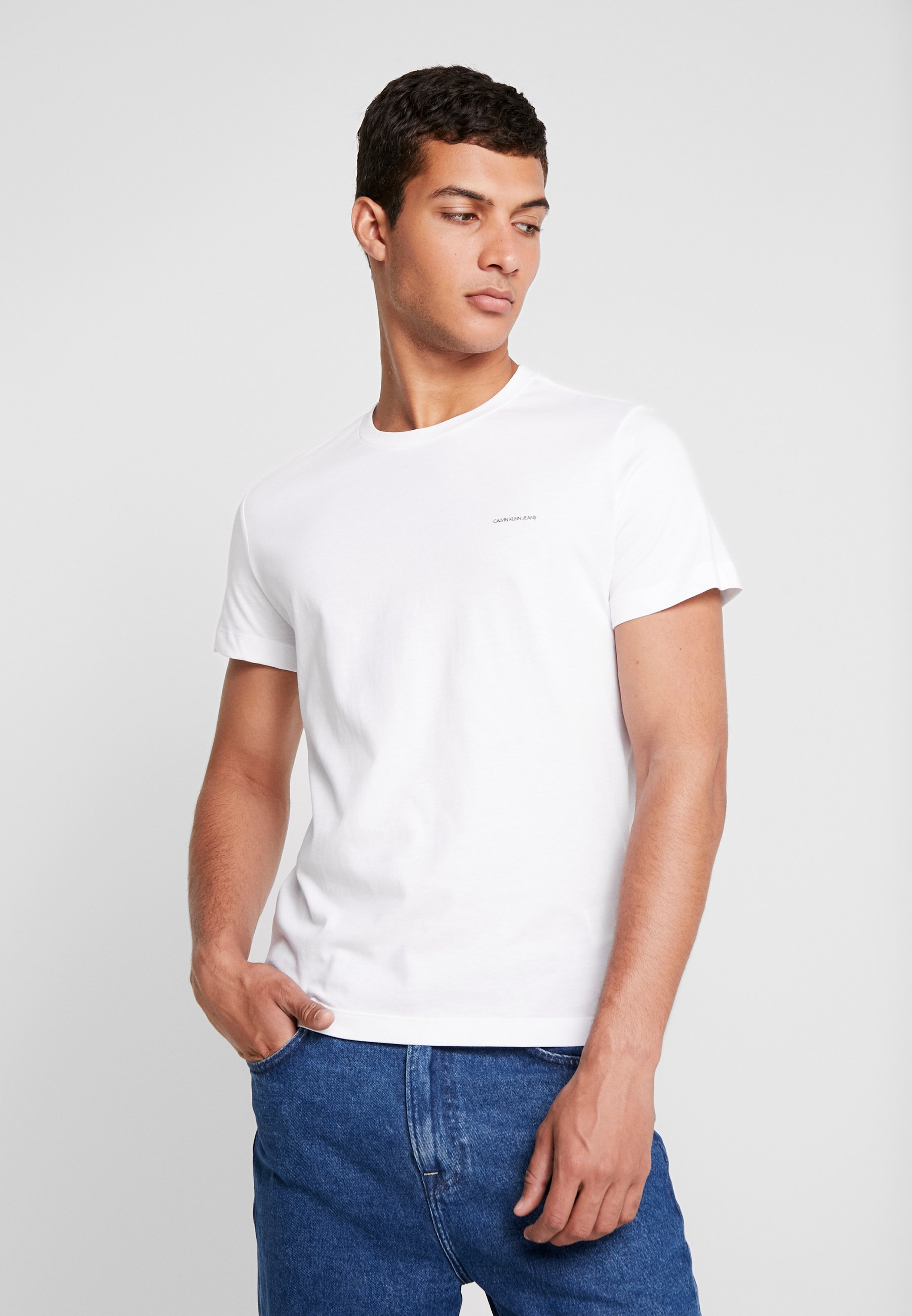 Calvin Klein Jeans Slim Fit 2 Pack - T-shirts Basic Bright White
