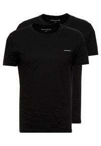 Calvin Klein Jeans - SLIM FIT 2 PACK - T-paita - black beauty - 0