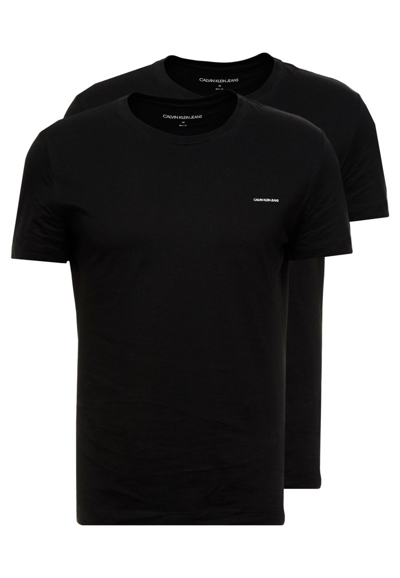 Calvin Klein Jeans - SLIM FIT 2 PACK - T-paita - black beauty