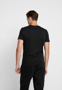 Calvin Klein Jeans - SLIM FIT 2 PACK - T-paita - black beauty - 3