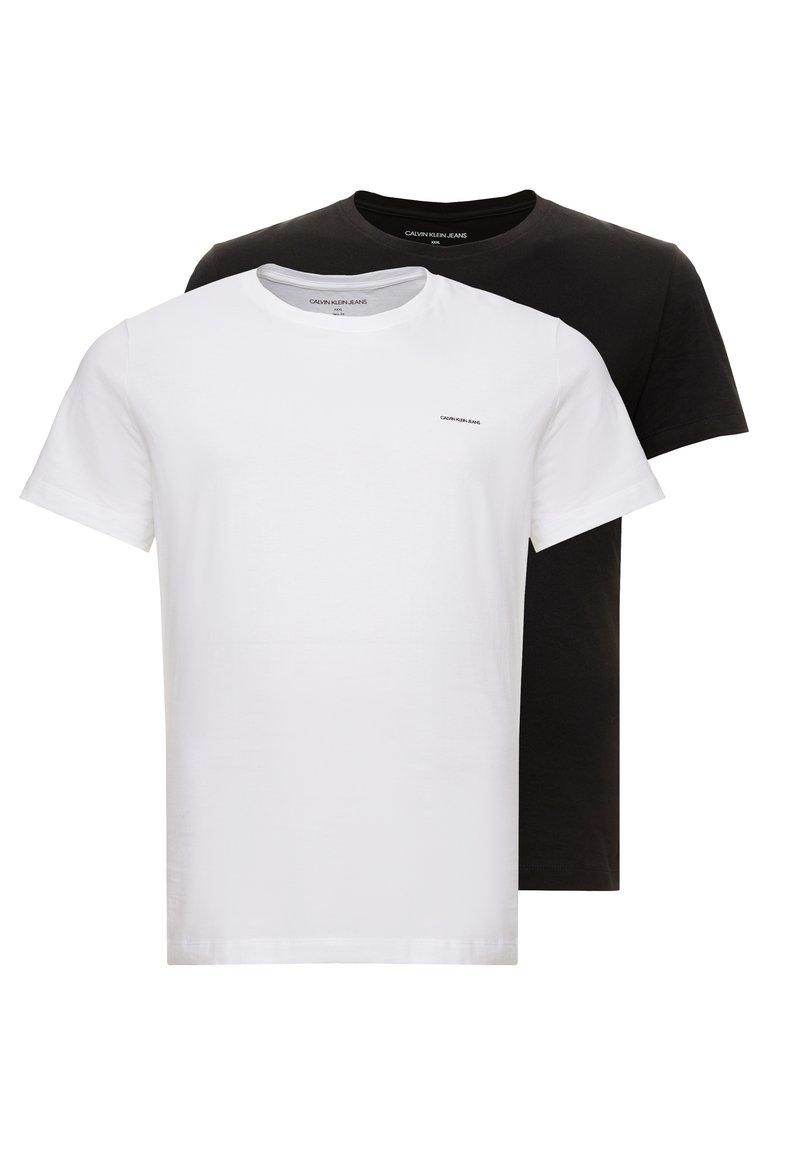 Calvin Klein Jeans - 2 PACK - T-Shirt basic - bright white/black beauty