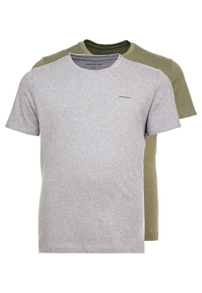 Calvin Klein Jeans - 2 PACK - T-Shirt basic - grape leaf grey melange