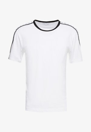 MONOGRAM TAPE TEE - Triko s potiskem - bright white / black/white tape