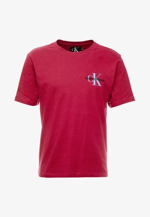 MONOGRAM EMBRO CHEST - T-shirt con stampa - beet red