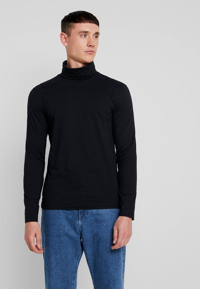 Calvin Klein Jeans - CORE INSTIT  - Langærmede T-shirts - black
