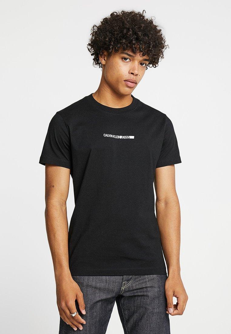 Calvin Klein Jeans - BOLD INSTITUTIONAL LOGO SLIM TEE - T-Shirt print - black