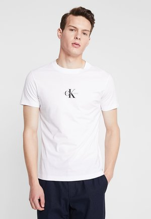 CENTERED MONOGRAM SLIM TEE - Triko s potiskem - bright white