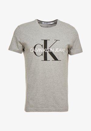 ICONIC MONOGRAM SLIM TEE - T-shirts med print - heather grey