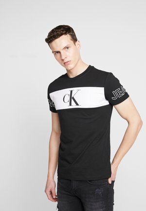 BLOCKING STATEMENT SLIM TEE - T-shirt print -  black/bright white