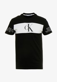 Calvin Klein Jeans - BLOCKING STATEMENT SLIM TEE - Triko s potiskem -  black/bright white - 3