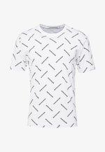 INSTITUTIONAL TEE - T-shirt print - bright white/black