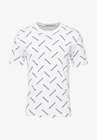 Calvin Klein Jeans - INSTITUTIONAL TEE - T-shirt imprimé - bright white/black - 4