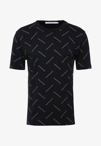 Calvin Klein Jeans - INSTITUTIONAL TEE - Print T-shirt - black/white - 4