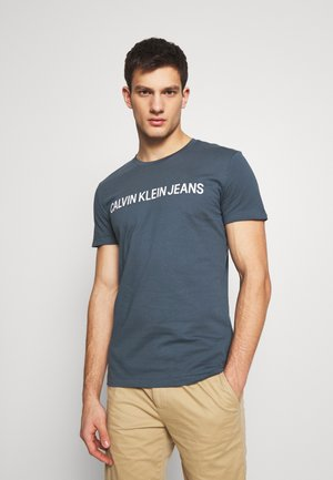 INSTITUTIONAL LOGO SLIM TEE - Camiseta estampada - orion blue
