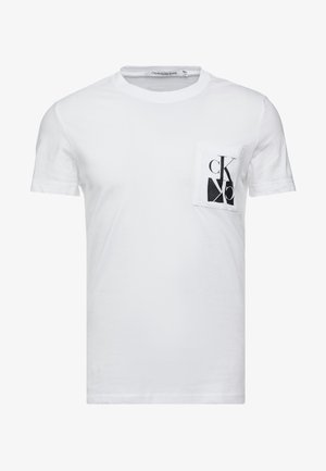 MIRRORED MONOGRAM SLIM TEE - Triko spotiskem - bright white/black