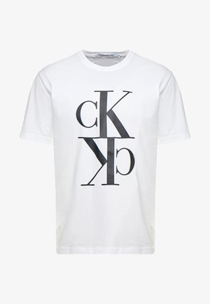 MIRRORED MONOGRAM TEE - T-shirt con stampa - bright white/black