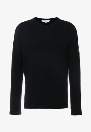 WAFFLE MONOGRAM SLEEVE SLIM - T-shirt à manches longues - black