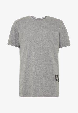 BADGE TURN UP SLEEVE - T-shirt basic - mid grey heather