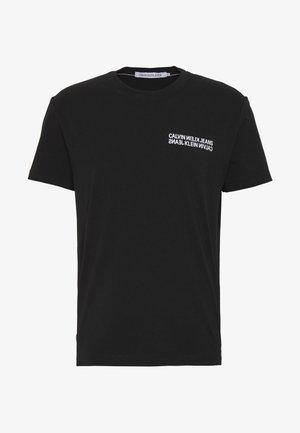 MONOGRAM SQUARE BACK REG TEE - T-shirt print - black