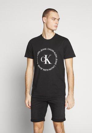 ROUND LOGO TEE - T-shirt imprimé - black