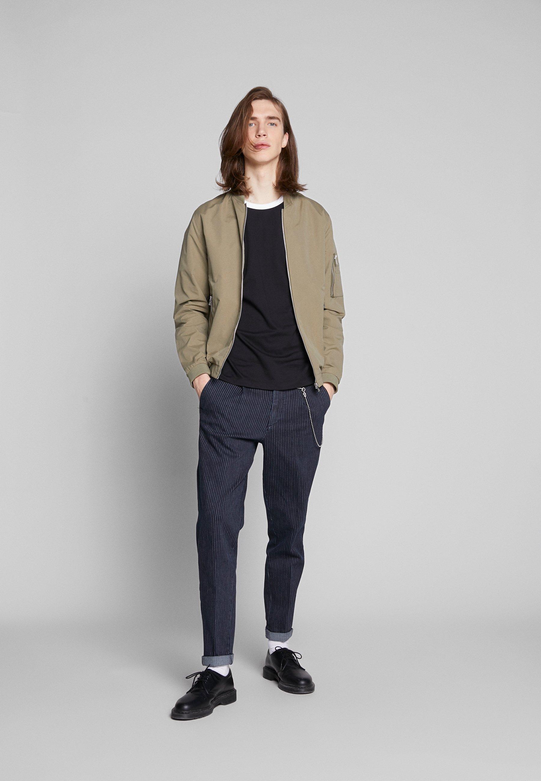 Calvin Klein Jeans CONTRASTED RINGER TEE - T-shirt basique - black/white