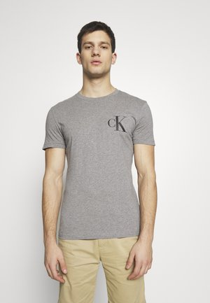 INSTIT POP LOGO SLIM TEE - T-shirt con stampa - mid grey heather