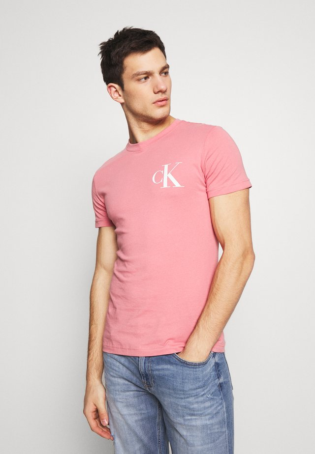 INSTIT POP LOGO SLIM TEE - T-shirt imprimé - brandied apricot