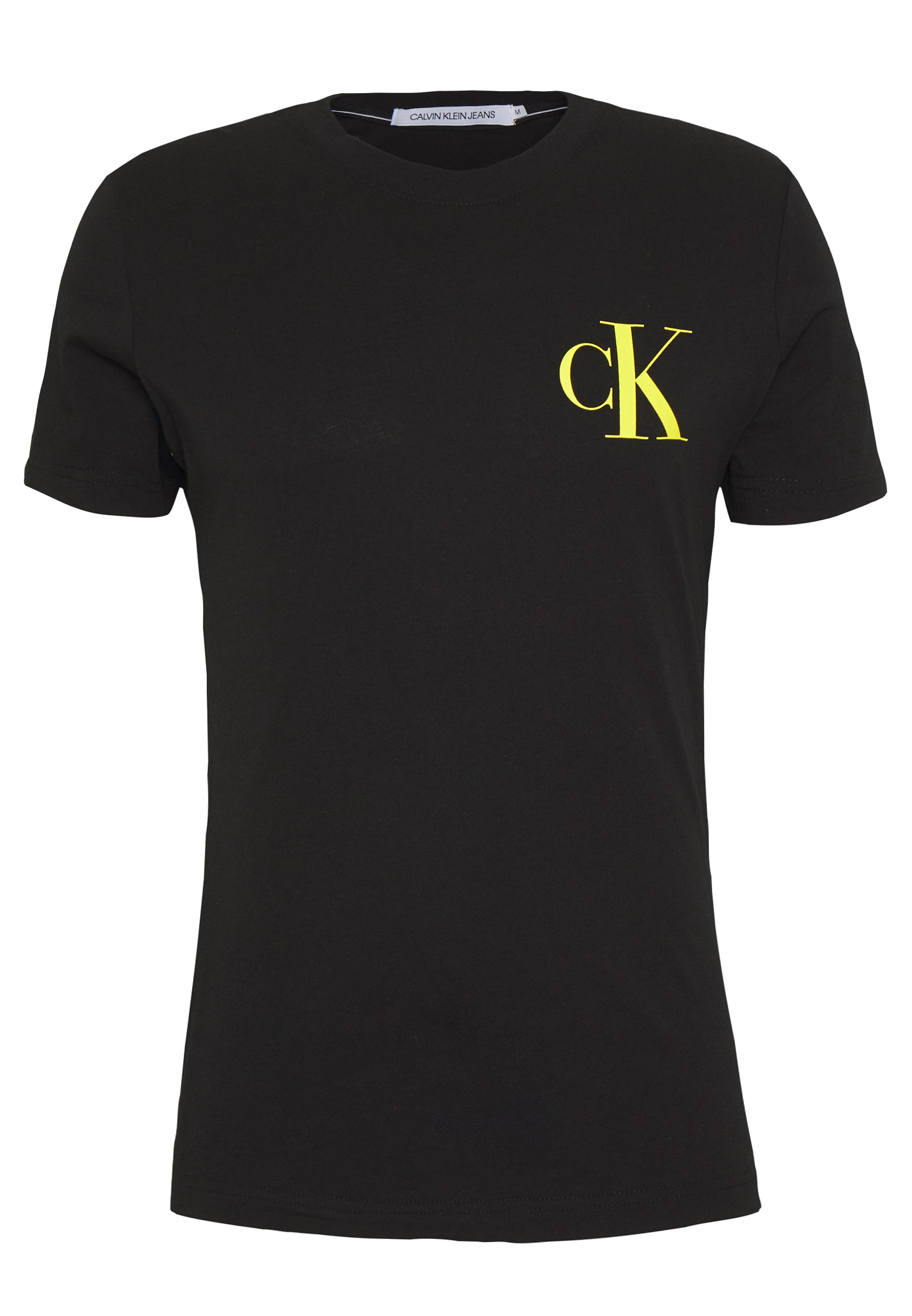 Calvin Klein Jeans Instit Pop Logo Slim Tee - T-shirt Con Stampa Black a8n82tx