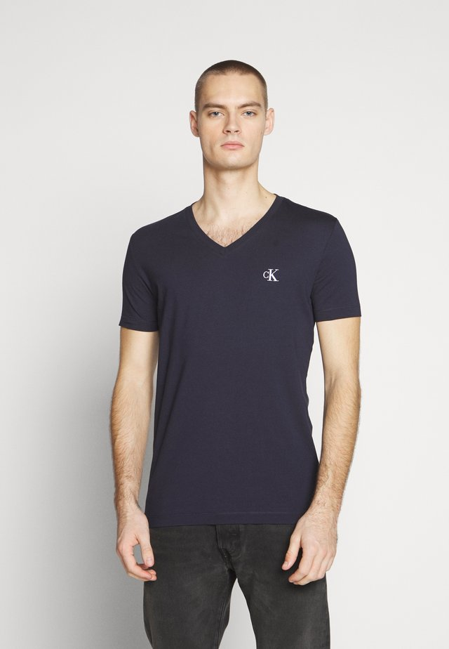 ESSENTIAL V NECK TEE - T-shirt basique - night sky