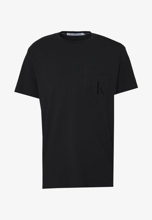 TONAL POCKET MONOGRAM TEE - Printtipaita - black