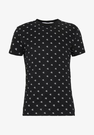 SLIM TEE - T-shirts med print - black/white
