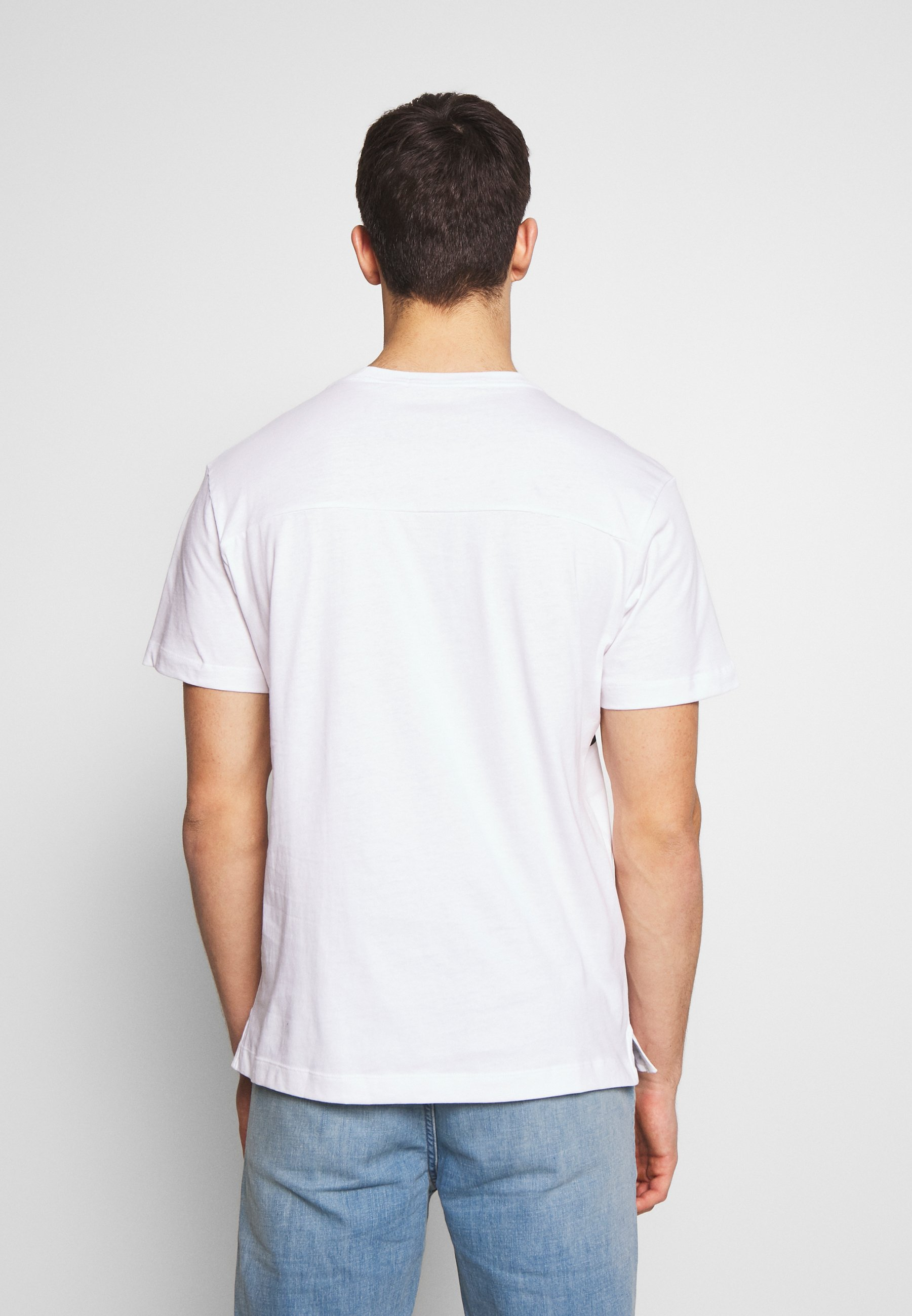 Calvin Klein Jeans Upscale Monogram Logo Regular Tee - T-shirts Print Bright White