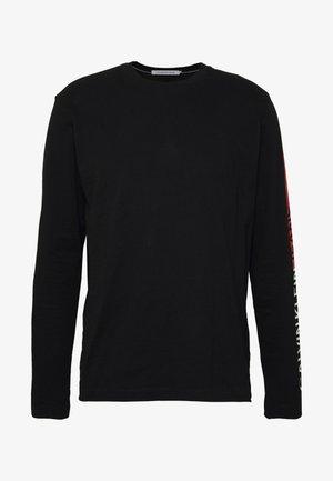 STRIPE INSTITUTIONAL LOGO TEE - Bluzka z długim rękawem - black