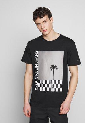 PALM TREE PHOTO TEE - Print T-shirt - black