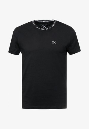 CHEST MONOGRAM COLLAR LOGO SLIM - T-shirt - bas - black beauty