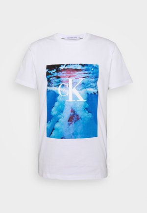 WAVE  TEE - Print T-shirt - bright white