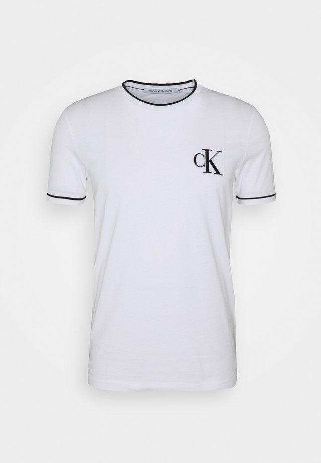 TIPPING CK ESSENTIAL TEE - T-shirt print - bright white