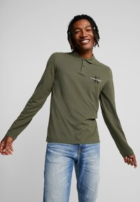 Calvin Klein Jeans - MONOGRAM SLIM FIT - Piké - grape leaf - 0