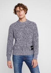 Calvin Klein Jeans - STITCH - Pullover - bright white/black - 0