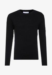 Calvin Klein Jeans - MONOGRAM SLEEVE BADGE SWEATER - Pullover - black - 4