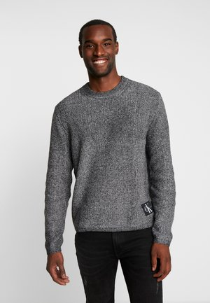 TWO TONE SWEATER - Svetr - black/white