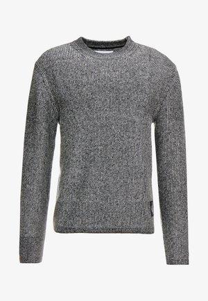 TWO TONE SWEATER - Stickad tröja - black/white