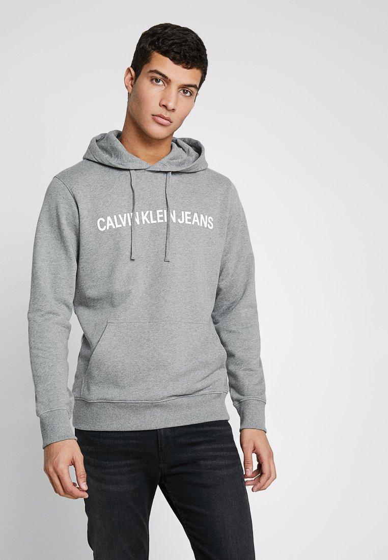 Calvin Klein Jeans - INSTITUTIONAL HOODIE - Hoodie - grey