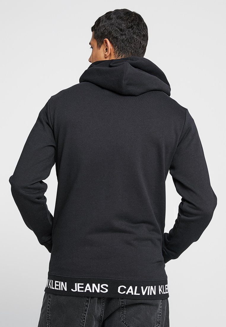 HoodieSweat Waistband Capuche À Calvin Klein Jeans Black Logo Instit FlT1J5K3uc