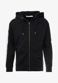 Calvin Klein Jeans - MONOGRAM TAPE ZIP THROUGH - Bluza rozpinana - black - 3